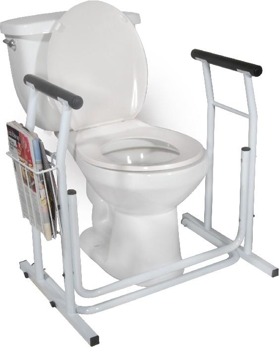Cadre de sécurité auto-portant pour toilette