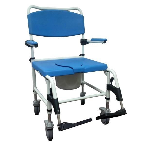 Chaise de douche bariatrique en aluminium Rehab