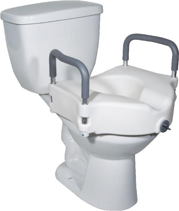 """Siège de toilette 5""""avec appui-bras"""