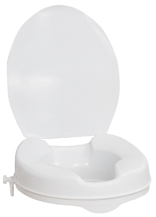 """Siège de toilette surélevé 2"""" avec couvercle Aquasense"""