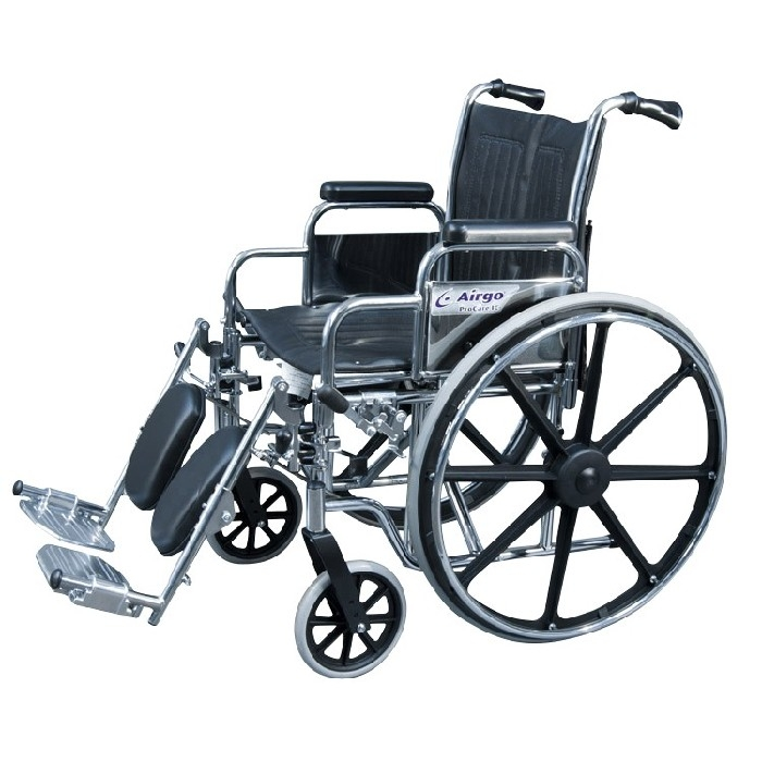 """Fauteuil roulant Airgo ProCare IC 18"""" bras & pieds détachable"""