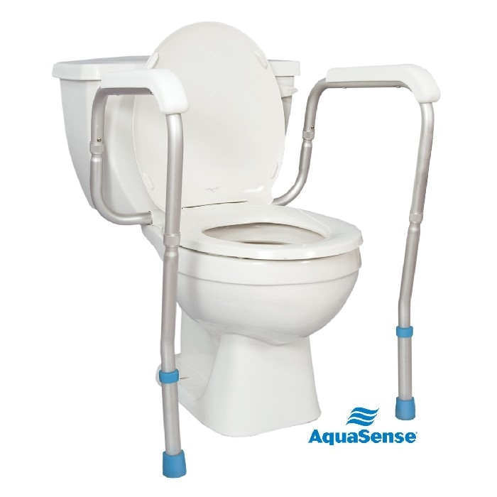 Appui-sécuritaire pour toilette blanc Aquasense