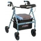 Déambulateur Airgo Comfort-Plus ajust. en hauteur bleu irisé