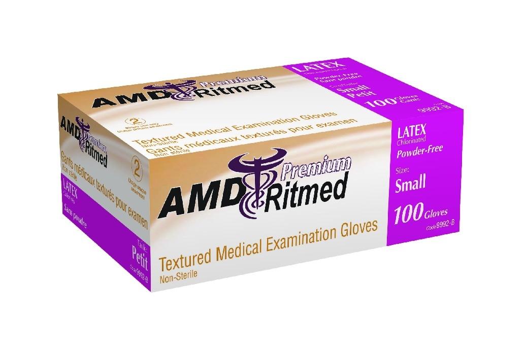 Gant latex sans poudre (L) bte/100 AMD Ritmed